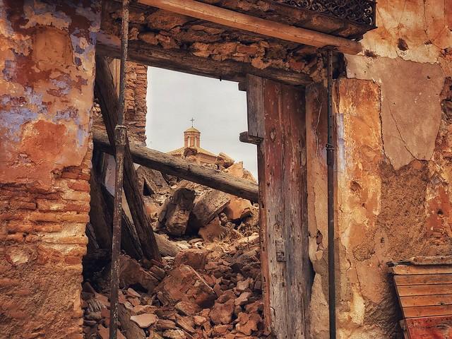 Ruinas de Belchite Viejo, el pueblo destruido durante la Guerra Civil española