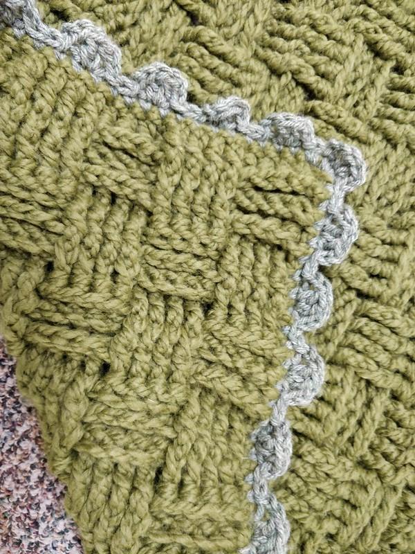 Lineage Basketweave Afghan