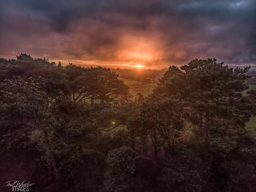 craigavon northern ireland sunrise drone mavicair