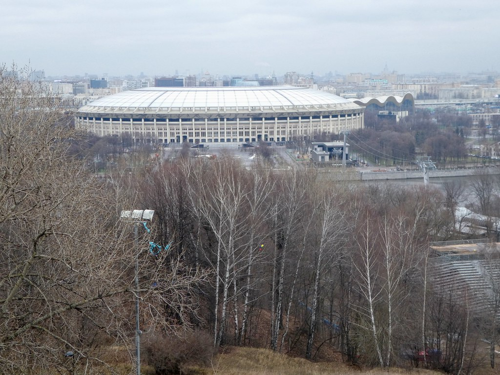 View of Luzhniki Stadium from Sparrow Hills, Moscow