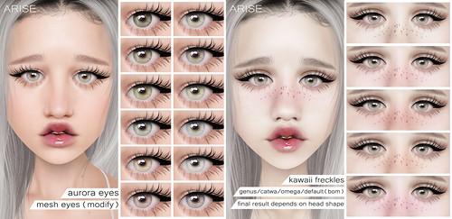 .ARISE. Aurora Eyes & Kawaii Freckles