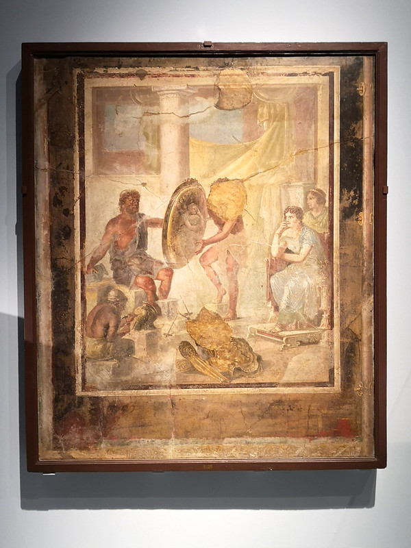 An image of a Roman fresco showing Hephaestus at work.