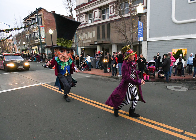 The 10th Mad Hatter Holiday Parade Running with the Hatter