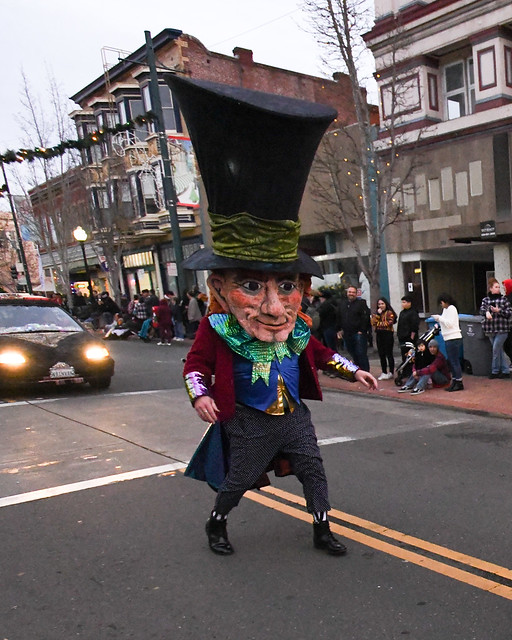 The 10th Mad Hatter Holiday Parade Ovbiously Mad, Mad as a Hatter!