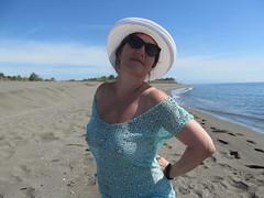 On empty beach