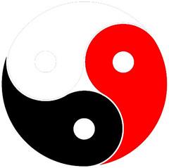 image of triple yin yang symbol