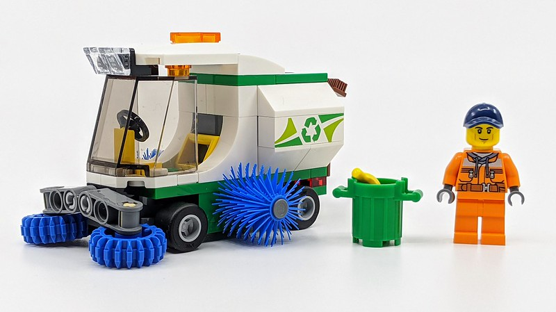 LEGO 60249 City Great Vehicles Street Sweeper Garbage Truck Toy with Driver Kids