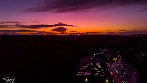 banbridge northernireland unitedkingdom drone mavic air sunrise