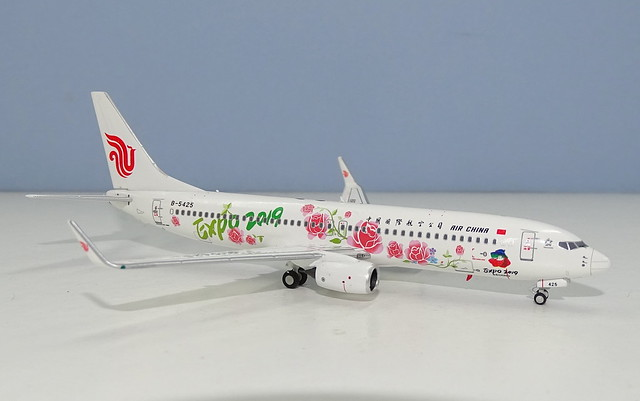 "Air China Boeing 73W B-5425 with ""Expo 2019"" logo"