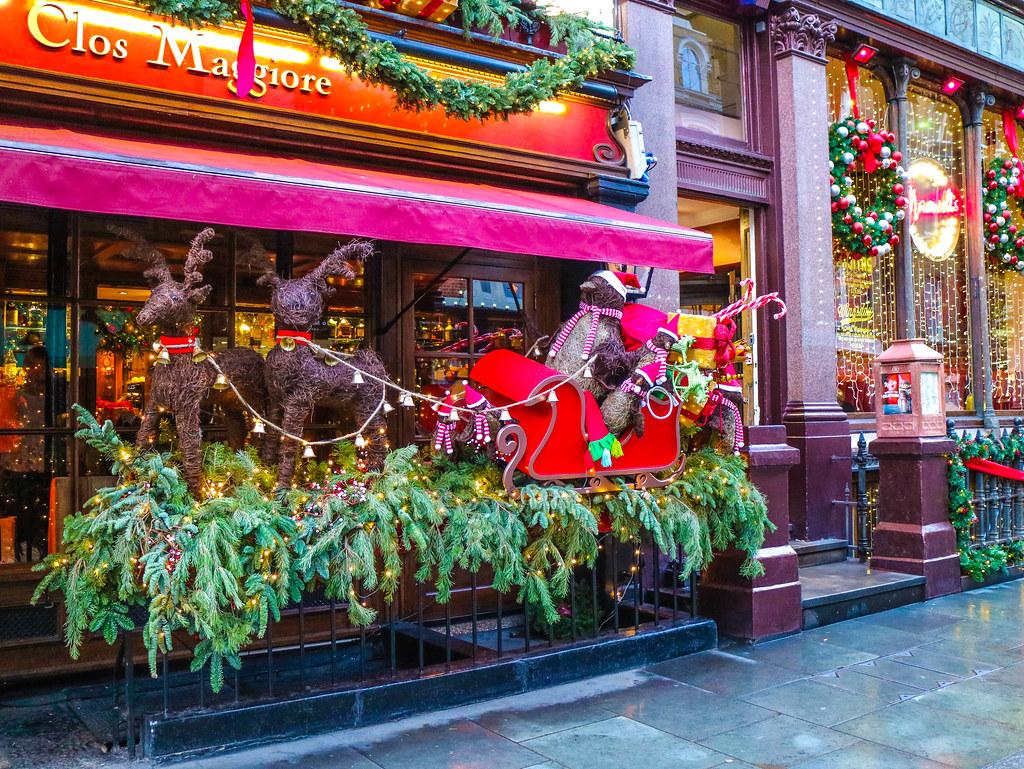 Decoración navideña en Londres en Navidad