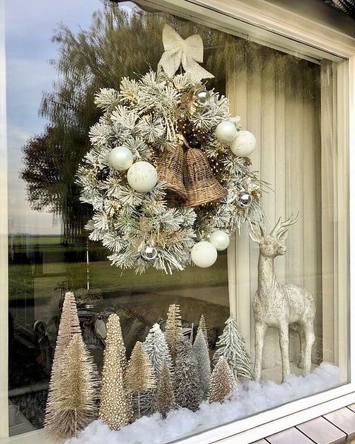 Riviera Maison vensterbank kerstboompjes