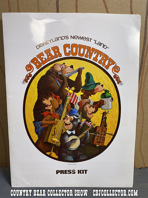 1972 Disneyland Bear Country Press Kit Folder - CBCS #238