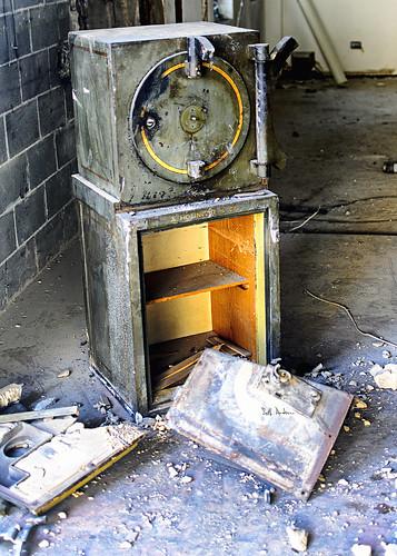 Remnants of A Holinger & Company Safe