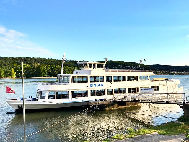 Ship for Tourist Tours on the River Rhine - in Rüdesheim, Germany - 2019