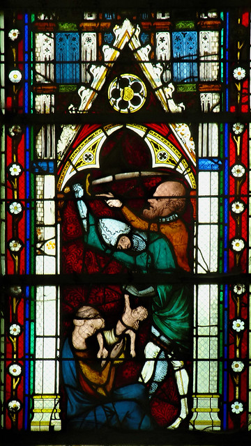 Sat, 08/16/2014 - 13:09 - 1325-39 stained glass depicting the Massacre of the Innocents - St Ouen, Rouen France 16/08/2014