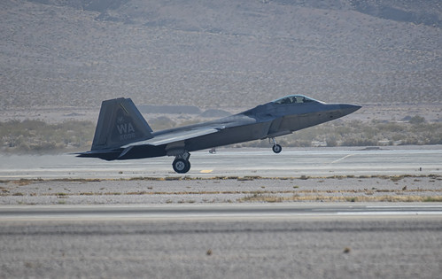 F-22 on Her Main Gear