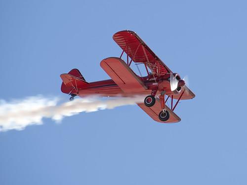 Boeing Stearman Over Nellis