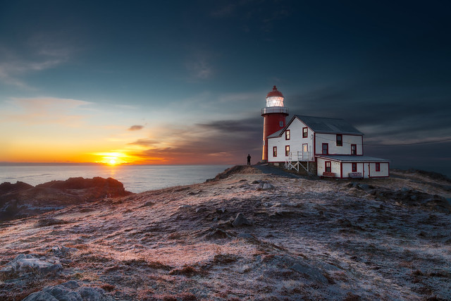 The sunrise in the morning of Tibb's Eve at Ferryland Lighthouse. Christmas Eve is on the way!