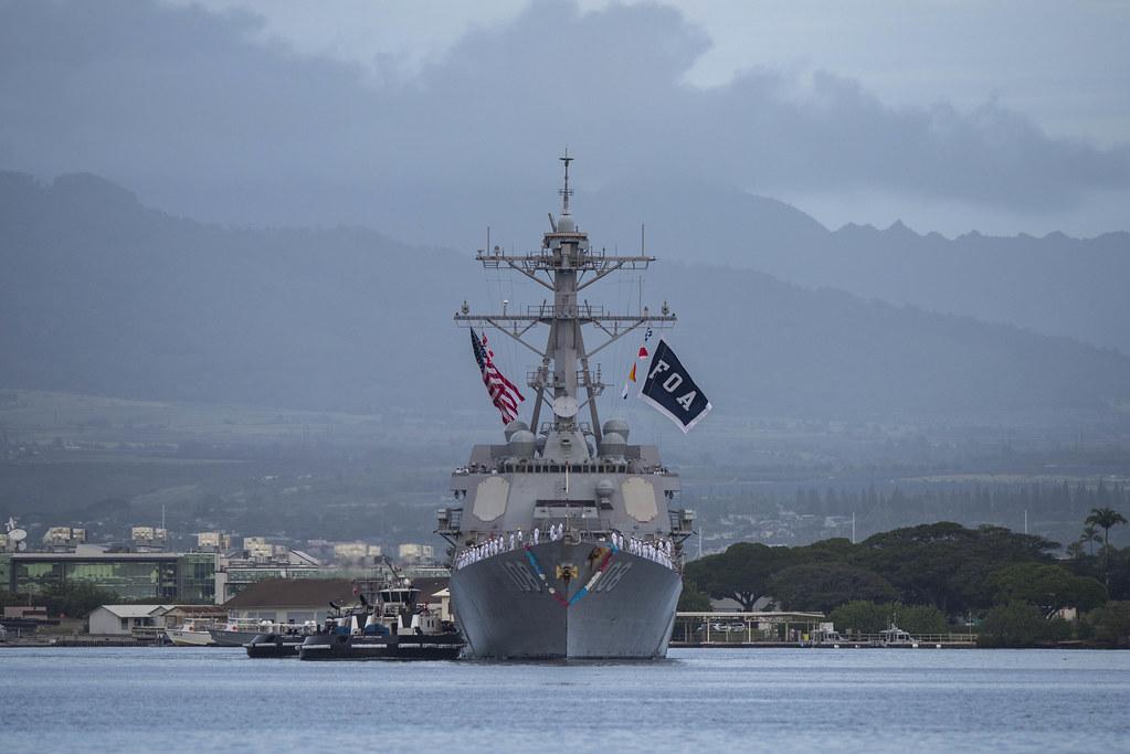 US Navy – USS Wayne E Meyer Returns from Deployment – Dec. 23, 2019