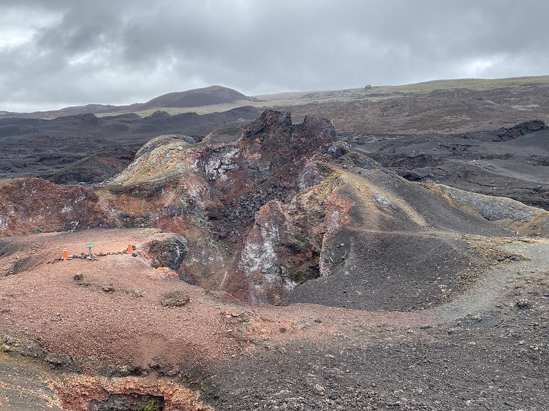 The Summit of the Chico Volcano at 860 meters (2,821 ft) above sea level, Isla Isabela (Albemarle), the Galápagos Islands, Ecuador.