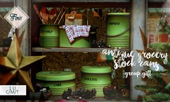.Florix. Antique grocery stock cans