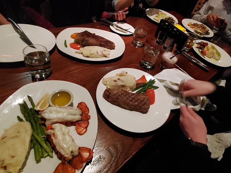 The Keg dinner
