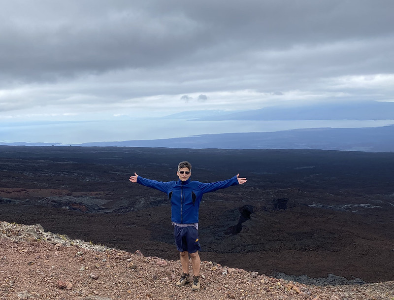 The Lava Fields, the Summit of the Chico Volcano at 860 meters (2,821 ft) above sea level, Isla Isabela (Albemarle), the Galápagos Islands, Ecuador.