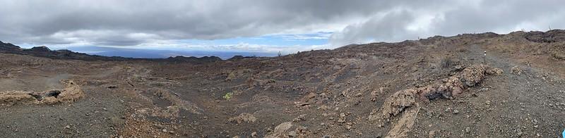 Sierra Negra Volcano's Last Eruption site in 2018 at 950 meters (3,116 ft) above sea level, Isla Isabela (Albemarle), the Galápagos Islands, Ecuador.