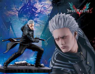 渴求更強力量的魔界劍士!ARTFX J《惡魔獵人5》維吉爾 1/8 比例立體人形(ARTFX J デビル メイ クライ 5 バージル)