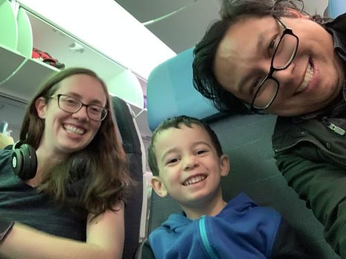 Family selfie on PAL flight 119