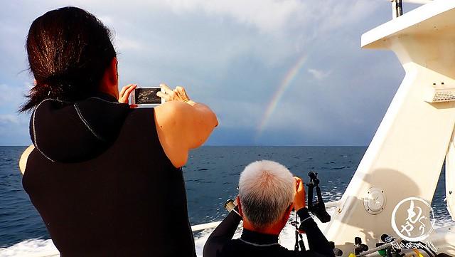 出港時、美しい虹が♪おてんとさんからのクリスマスプレゼント♪