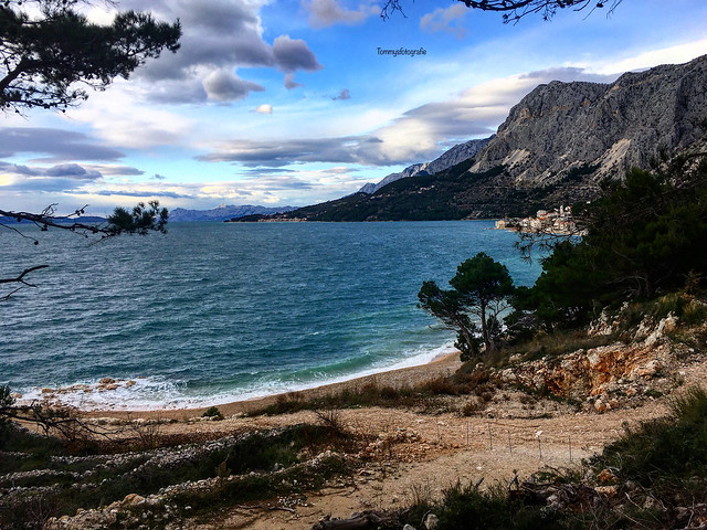 Hiking along the Dalmatian coast. Breathtaking views.