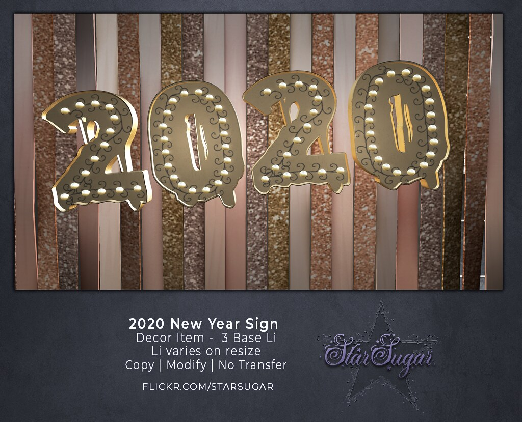 2020 New Year Sign