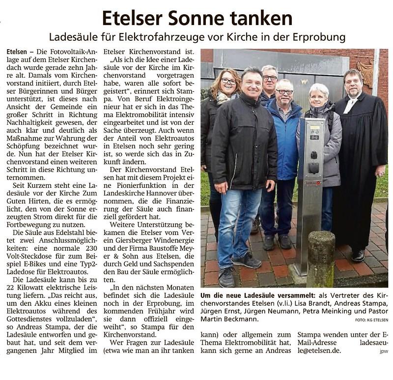 Tankstelle Kirche Etelsen