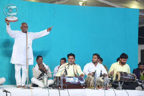 Devotee presented devotional song