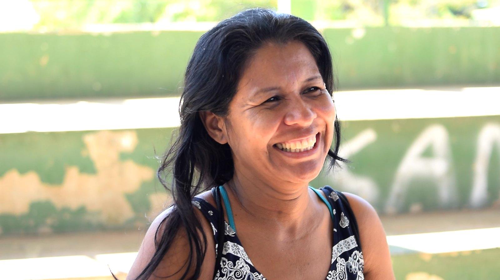 Marcia Neves satisfeita com os atendimentos odontológicos em Cumuruxatiba