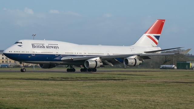 G-CIVB - British Airways 747 Negus @ Cardiff Airport 23/12/19