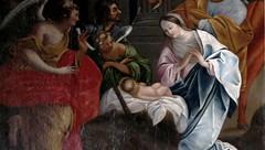 Dienne (Cantal, Auvergne, Fr) – Nativité (tableau de l'église, fragment)