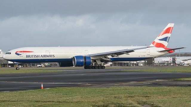 G-STBF - British Airways 77W @ Cardiff Airport 23/12/19