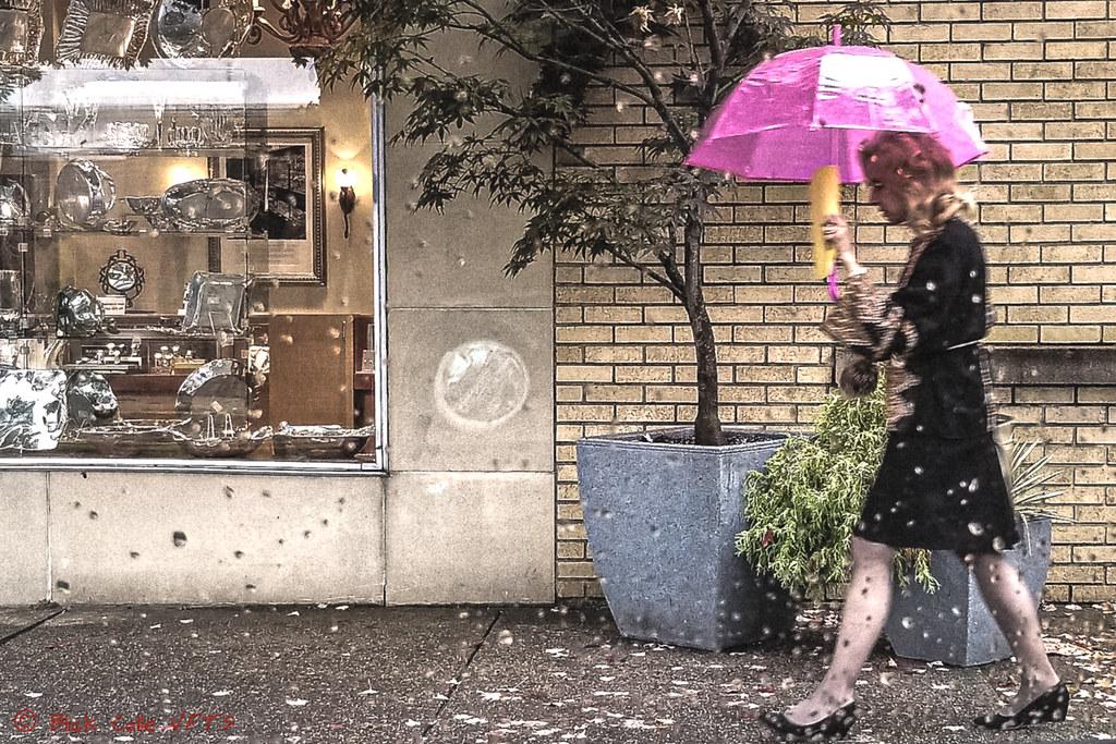Dreary Day Bright Umbrella