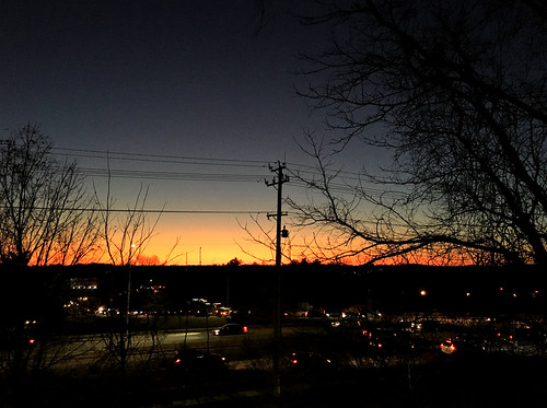 pikesville maryland sunsets trees poles wires htmt htt cmwd