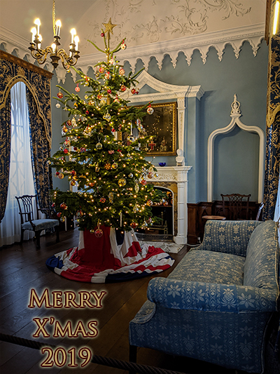 Merry Christmas from the Blue Drawing Rooms in St Michael's Mount in Marazion. Queen Victoria & Prince Albert (in the 18th Century) as well as Queen Elizabeth II & the Duke of Edinburgh in 2013 were in this room when they visited.