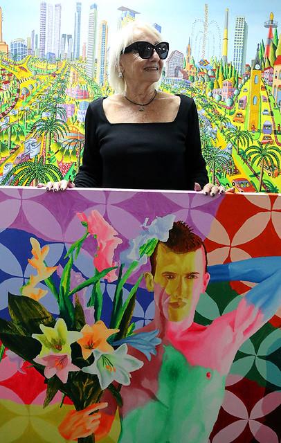ננו רוב חובבת אמנות ציירת אקריליק ציורים על בדים אמנות ישראלית