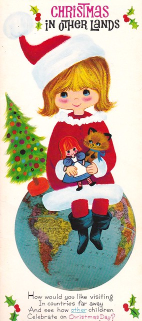Vintage American Greetings Card - Christmas in Other Lands