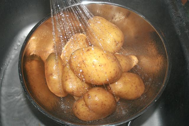08 - Kartoffeln abtropfen lassen / Drain potatoes