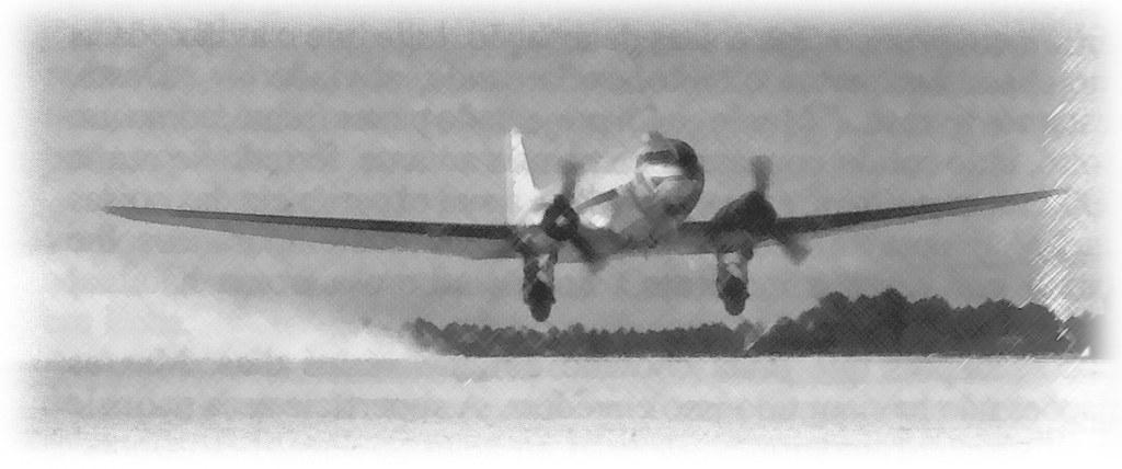 Um DC-3 Dakota dos T.A.P., s.l, 194…-5… (A. n/id., in Histórias com Asas, A.P.P.L.A., Lisboa, 1992.)