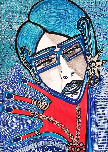 ציורי נשים אישה מירית בן נון ציירת יוצרת עכשווית ישראלית