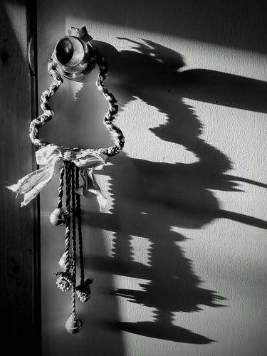 christmas shadow monochrome bw