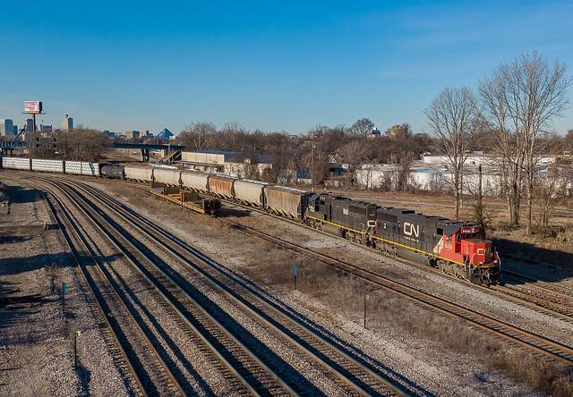 CN 5436 (SD60) Train:RJY30 KC Jct. Memphis, Tennessee
