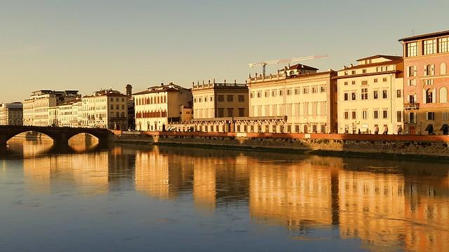 Italy, Firenze; Arno from Ponte Sante Trinita; November 2019;